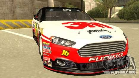 Ford Fusion NASCAR No. 16 3M Bondo para GTA San Andreas left