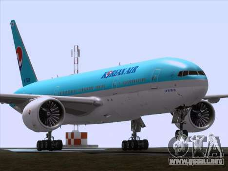 Boeing 777-2B5ER Korean Air para GTA San Andreas left