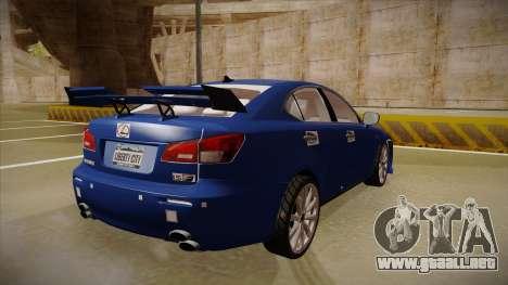 Lexus IS F V1 para la visión correcta GTA San Andreas