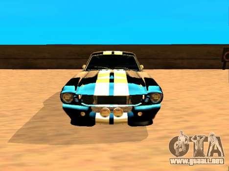 Ford Shelby GT-500E Eleanor para GTA San Andreas left