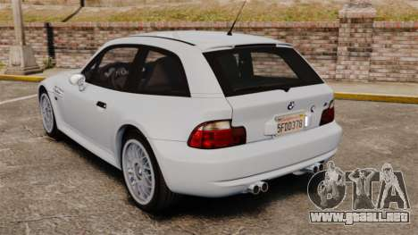 BMW Z3 Coupe 2002 para GTA 4 Vista posterior izquierda