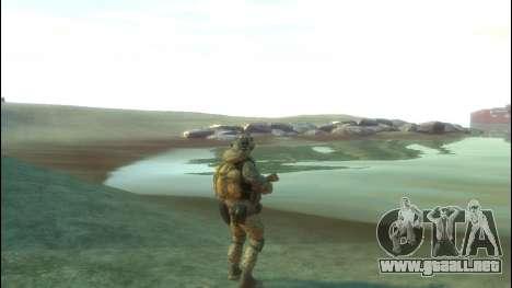 Un soldado ruso v4.0 para GTA 4 adelante de pantalla