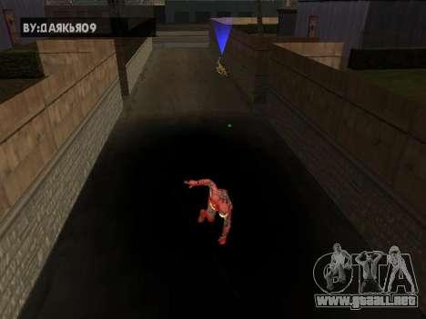 Impacto de iron man en la tierra para GTA San Andreas tercera pantalla