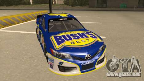 Toyota Camry NASCAR No. 47 Bushs Beans para GTA San Andreas left