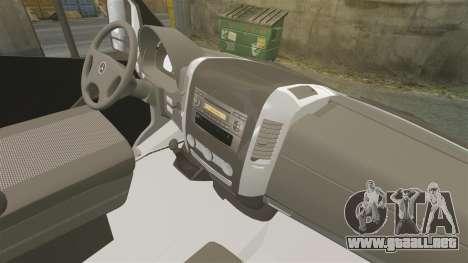 Mercedes-Benz Sprinter Croatian Police v2 [ELS] para GTA 4 vista hacia atrás