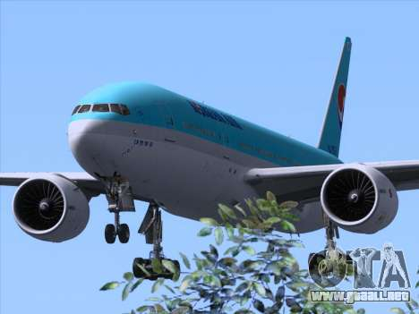 Boeing 777-2B5ER Korean Air para GTA San Andreas