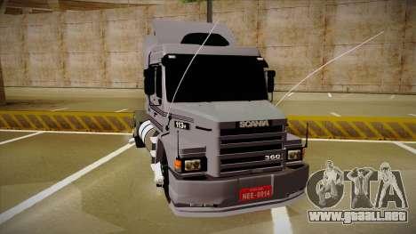 Scania 113H Top Line Neee Edit para la visión correcta GTA San Andreas