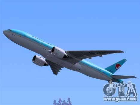 Boeing 777-2B5ER Korean Air para las ruedas de GTA San Andreas
