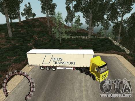 Trailer de Kamaz 54115 para GTA San Andreas left