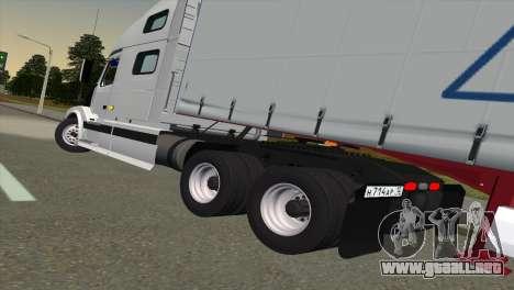 Volvo VNL 670 para GTA San Andreas vista posterior izquierda