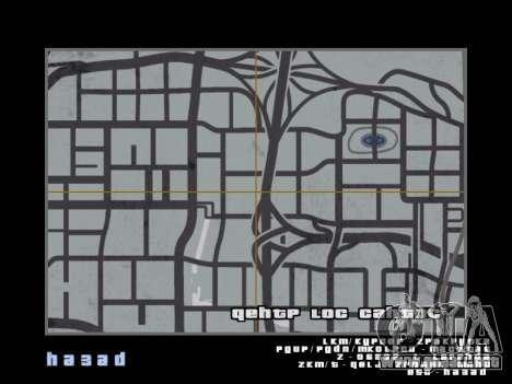 Mapa al estilo de GTA 5 para GTA San Andreas tercera pantalla