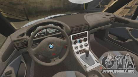 BMW Z3 Coupe 2002 para GTA 4 vista lateral