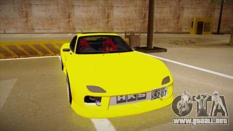 Mazda FD3S BN Sports para GTA San Andreas left