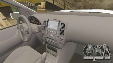 Nissan Pathfinder HGSS [ELS] para GTA 4 vista hacia atrás