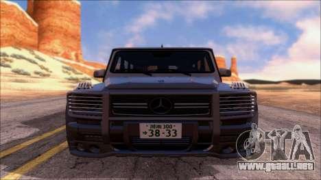 Mercedes-Benz G65 AMG Hamann para la visión correcta GTA San Andreas