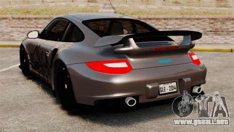Porsche 911 GT2 RS 2012 Turbo para GTA 4 Vista posterior izquierda