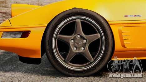 Chevrolet Corvette C4 1996 v1 para GTA 4 vista hacia atrás