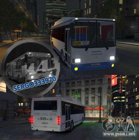 LIAZ 5256.57-01 2013 para GTA 4 vista lateral