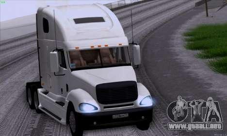 Freightliner Columbia para visión interna GTA San Andreas
