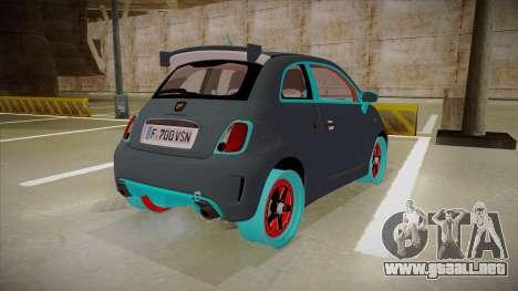 Abarth 500 Esseesse 2010 para la visión correcta GTA San Andreas