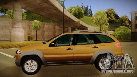 FIAT Palio Weekend Adventure Locker 2010 para GTA San Andreas vista posterior izquierda