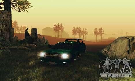 Chevrolet Silverado 3500 Military para GTA San Andreas vista hacia atrás
