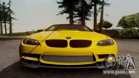 BMW M3 E92 Hamann para GTA San Andreas vista hacia atrás