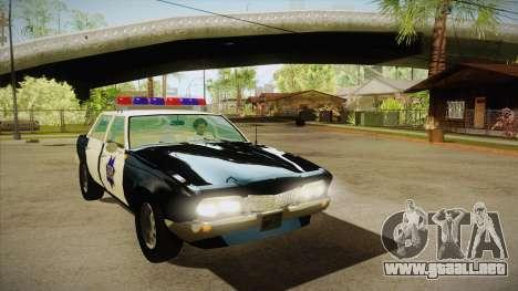 Fasthammer Police SF para GTA San Andreas vista hacia atrás