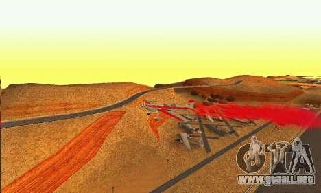 Stunt GTA V para GTA San Andreas vista hacia atrás
