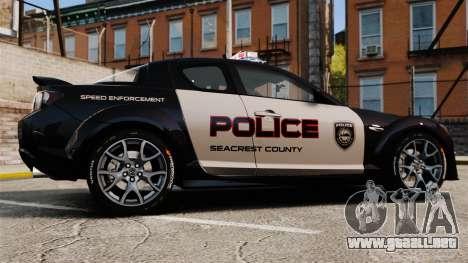 Mazda RX-8 R3 2011 Police para GTA 4 left