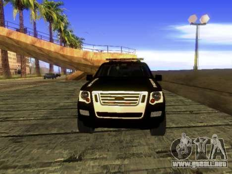 Ford Explorer 2010 Police Interceptor para GTA San Andreas left