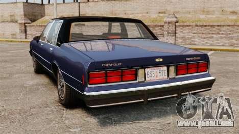 Chevrolet Caprice Brougham 1986 para GTA 4 Vista posterior izquierda