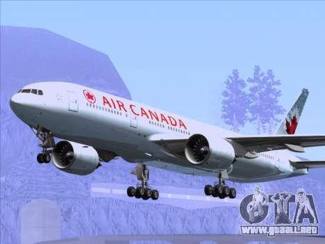 Boeing 777-200ER Air Canada para las ruedas de GTA San Andreas