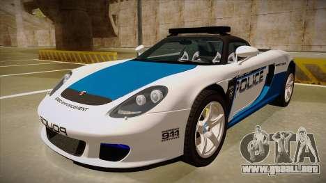 Porsche Carrera GT 2004 Police White para GTA San Andreas