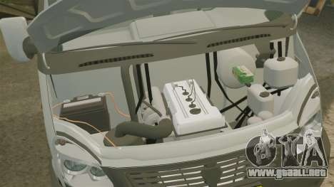 Negocio de gaz-3302 para GTA 4 vista interior