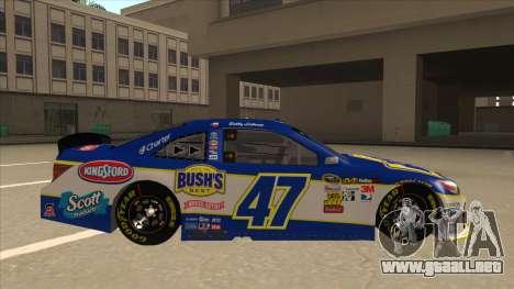 Toyota Camry NASCAR No. 47 Bushs Beans para GTA San Andreas vista posterior izquierda