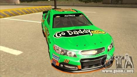 Chevrolet SS NASCAR No. 10 Go Daddy para GTA San Andreas left