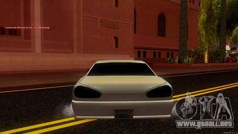 Elegy Estoq para GTA San Andreas vista posterior izquierda