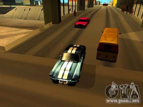 Ford Shelby GT-500E Eleanor para GTA San Andreas vista hacia atrás