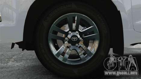 Toyota Land Cruiser Prado 150 para GTA 4 vista hacia atrás
