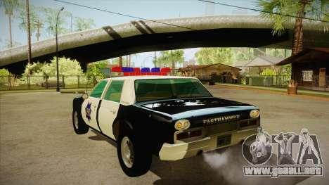 Fasthammer Police SF para GTA San Andreas vista posterior izquierda