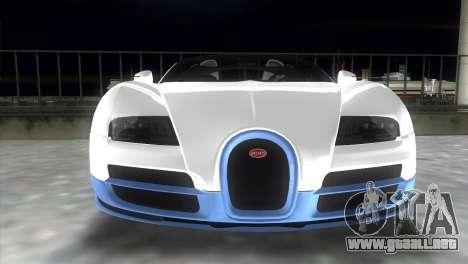 Bugatti Veyron Grand Sport Vitesse para GTA Vice City vista posterior