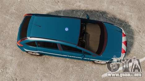 Citroen C4 Gendarmerie [ELS] para GTA 4 visión correcta