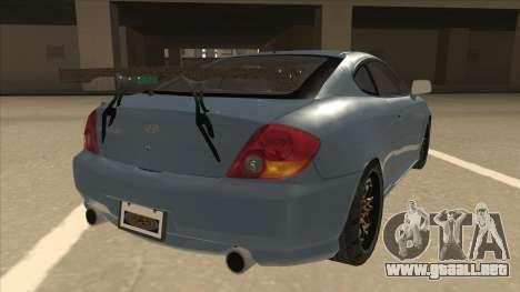 Hyundai Coupe V6 Soft Tuned v1 para la visión correcta GTA San Andreas