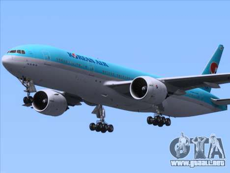 Boeing 777-2B5ER Korean Air para visión interna GTA San Andreas