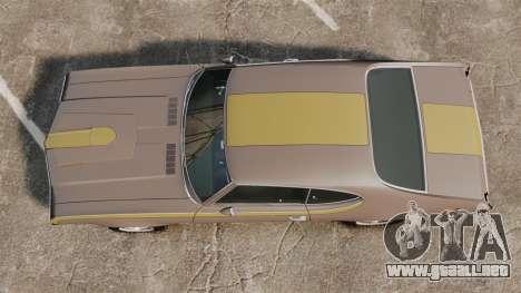 Oldsmobile Cutlass Hurst 442 1969 v1 para GTA 4 visión correcta