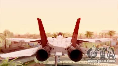USA Navy Hydra para GTA San Andreas vista hacia atrás