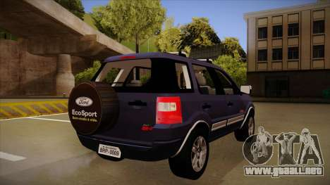 Ford Ecosport FreeStyle 2007 para la visión correcta GTA San Andreas