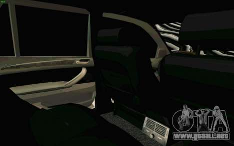 BMW X5 para vista inferior GTA San Andreas