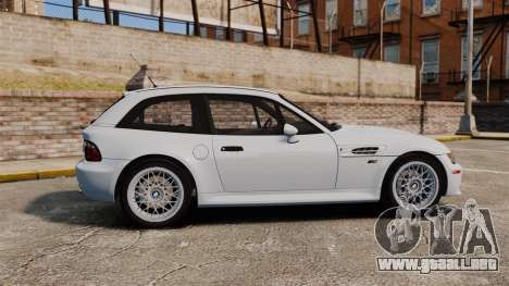 BMW Z3 Coupe 2002 para GTA 4 left
